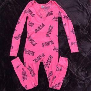 Pink one piece pajama size ca